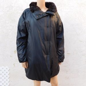 COACH Winter Puffer Down Coat Jacket Beaver Collar